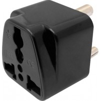 Universal Conversion Plug 3 Pin For India & South Africa Worldwide Adaptor (Black)