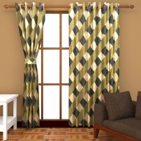 Ab home decor Polyester Door Curtains (Set of 2)