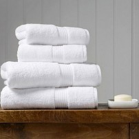 Ab Home Decor Set of 2 Bath Towels And 2 Hand Towels (White)