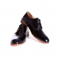 BootEase Men Black Calf Leather Formal Shoes
