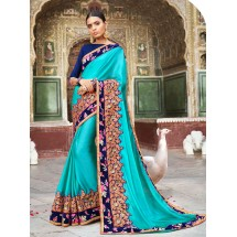 Designer Chiffon Saree, With Un-Stitched Blouse, Dyed Chiffon Saree