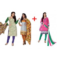 Elite Attire Pure Cotton Suit Buy Two Get OneFree