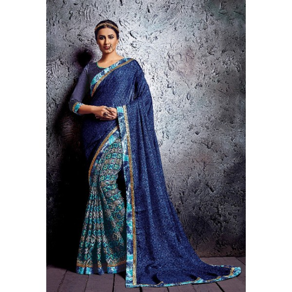 Designer Silk Saree, With Un-Stitched Silk Blouse