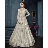 Designer Salwar Suit, With Net Dupatta, Semi-Stitched Embroidered Salwar Suit