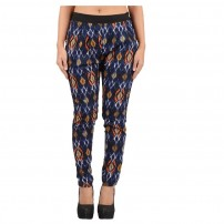 Elite Attire's Printed Cigarette Pants with Pockets