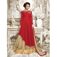 Party Wear Gown, Designer Taffeta Silk Gown