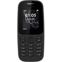 Nokia 105 (Black), Single SIM Mobile, Easier Dialing and Texting