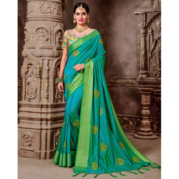 Latest Designer Saree, With Un-Stitched Blouse By Elite Emporio