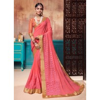Latest Designer Saree, With Un-Stitched Blouse