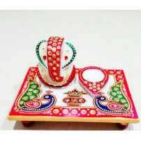 Ganesh Marble Pooja Chowki, By High Choice