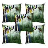 Designer Velvet Multicolor Cushion Covers Set Of 5 (16 inches x 16 inches)