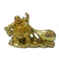 Feng Shui Laughing Buddha Dragging Potli