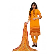 Latest Crepe Suit, With Nazneen Dupatta, Unstitched
