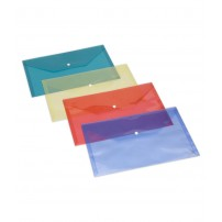 Pack Of 4 Plastic Document Envelope Bag