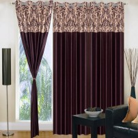 Siya Set of 3 Designer Long Door Eyelet Curtain