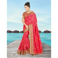 Banarasi Jacquard Saree, With Un-Stitched Blouse