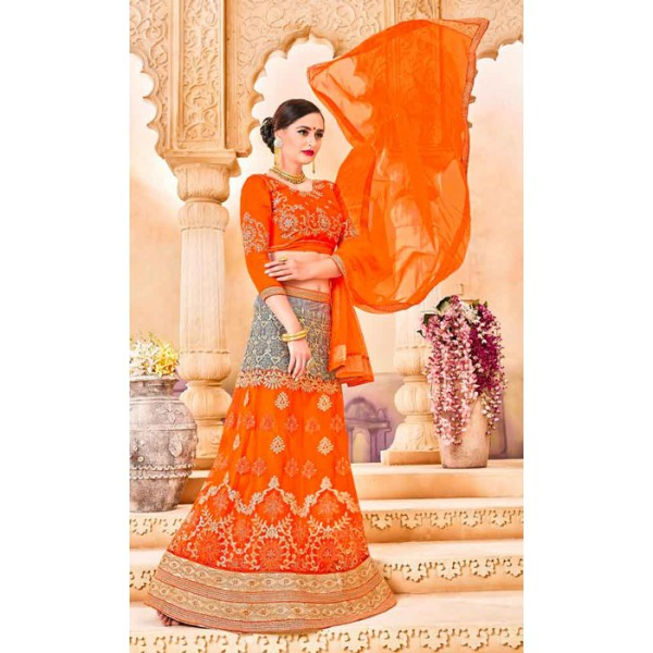 Latest Lehenga Choli, Semi Stitched, With Net Dupatta