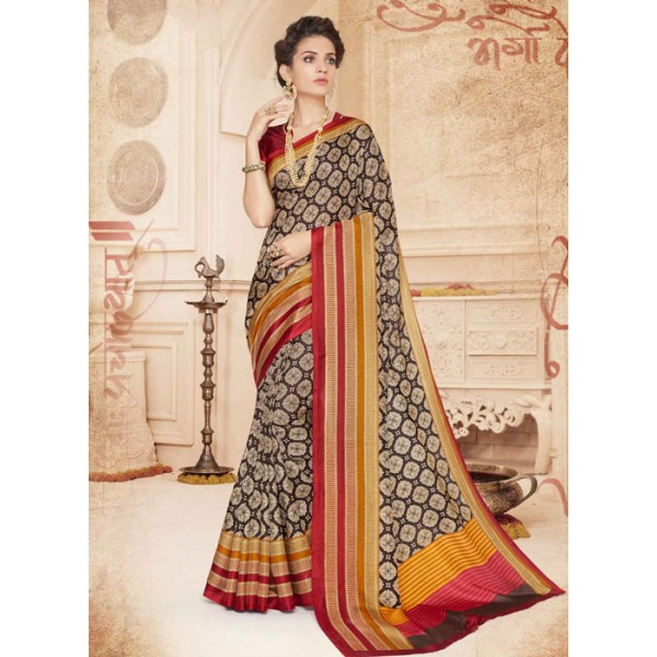 Pure Cotton Saree, With Un-Stitched Blouse, (Polyester Staple Manipuri)