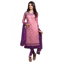 Latest Salwar Suit, Un-Stitched Suit, (Chanderi Cotton)