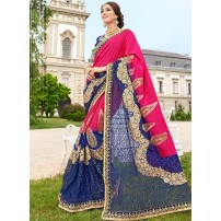 Art Silk And Rasal Net Saree, With Un-Stitched Blouse