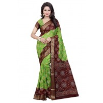Art Silk Saree, With Un-Stitched Blouse