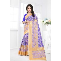 Banarasi Silk Saree, With Un-Stitched Blouse